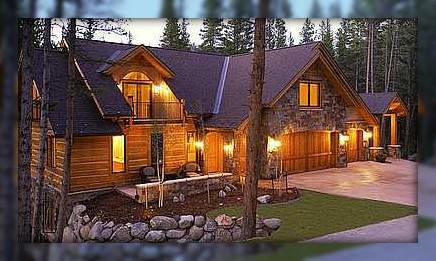 Chimney Asheville Log Homes