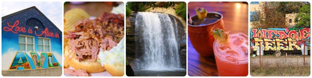 Asheville North Carolina Art, Food, Beer, Waterfalls